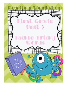 1st Grade Reading Unit 3 Charts & Teaching Points