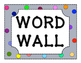 1st Grade Reading Wonders High Frequency Word Wall