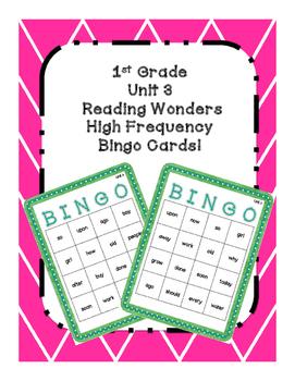 1st Grade Reading Wonders UNIT 3 High Frequency BINGO!