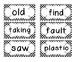 1st Grade Saxon Spelling Lists 21-25 Polka Dot Word Cards
