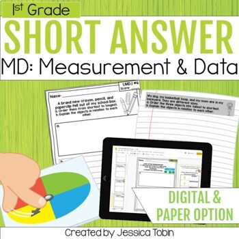 1st Grade Short Answer- Measurement and Data MD