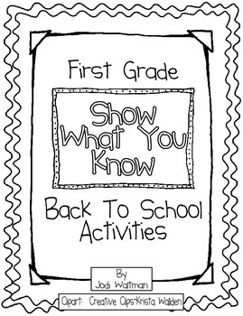 """1st Grade """"Show What You Know"""" Back to School Activities"""