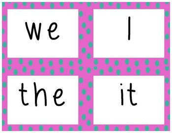 1st Grade Sight Word Cards