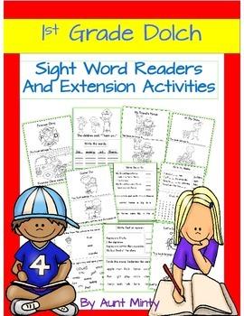 Prek-1st Grade Sight Word Readers,Activities,Homework with