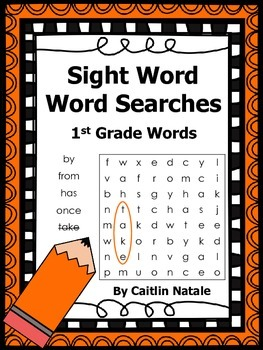 1st Grade Sight Word Word Searches