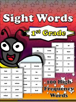 1st Grade Sight Word List #1 - First 100 High Frequency Wo