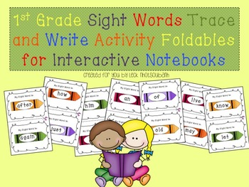 1st Grade Sight Words Trace and Write Activity for Interac