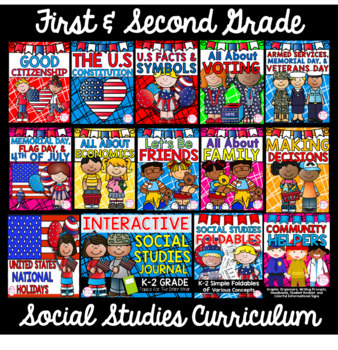 1st Grade Social Studies Curriculum- (11 Complete Units)