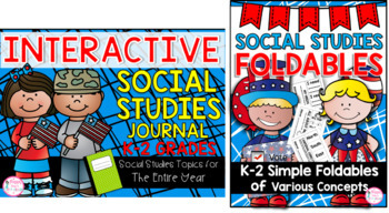 1st Grade Interactive Social Studies Journal & Foldables Bundle