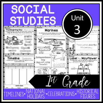 1st Grade - Social Studies - Unit 3 - Customs, Holidays, C