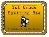 1st Grade Spelling Word Handwriting Practice