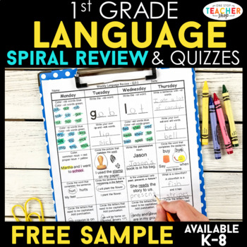 1st Grade Language Homework 1st Grade Morning Work FREE