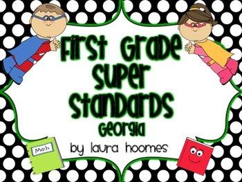 1st Grade Super Standards COMMON CORE Georgia