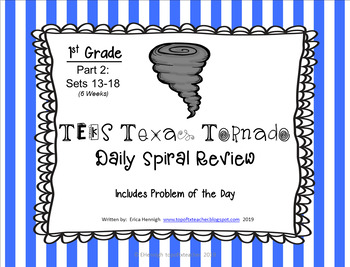 1st Grade NEW TEKS Texas Tornado Spiral Review Part 2: Set