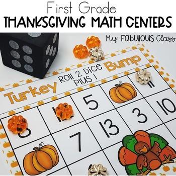 1st Grade Thanksgiving Math