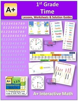 1st Grade Time Lessons, Worksheets, Solution Manuals