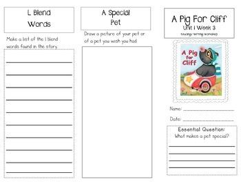 1st Grade UNIT 1 WEEK 3- OUR PETS: Brochure Bundle McGraw