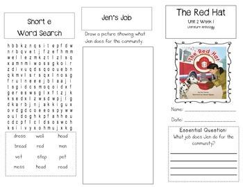 1st Grade UNIT 2 WEEK 1- Jobs Around Town: Brochure McGraw