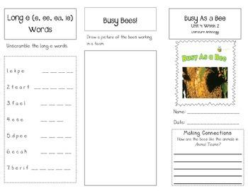 1st Grade UNIT 4 WEEK 2-Animals Together: Brochure Bundle