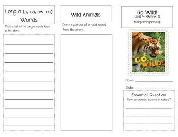 1st Grade UNIT 4 WEEK 3-In the Wild: Brochure Bundle McGra