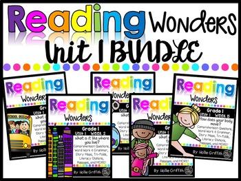 1st Grade Unit 1 Reading Wonders BUNDLE