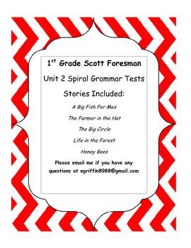 1st Grade Unit 2 Scott Foresman Spiral Grammar Tests