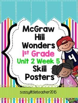 1st Grade Unit 2 Week 5 Skill Posters