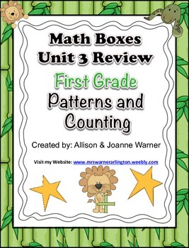 1st Grade Unit 3 Review Everyday Math ~ Patterns and Counting