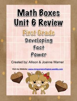 1st Grade Unit 6 Everyday Math ~ Developing Fact Power
