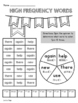 1st Grade WONDERS High Frequency Word Activities Unit 2