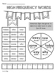 1st Grade WONDERS High Frequency Word Activities Unit 3