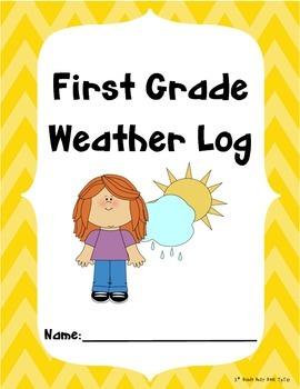 1st Grade Weather Log