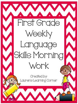 1st Grade Weekly Language Skills Morning Work