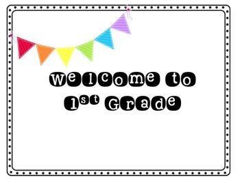 1st Grade Welcome Postcard