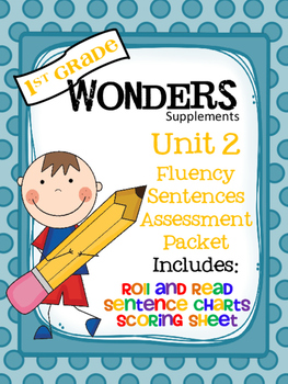 1st Grade Wonders - Unit 2 - Fluency Sentences Assessment