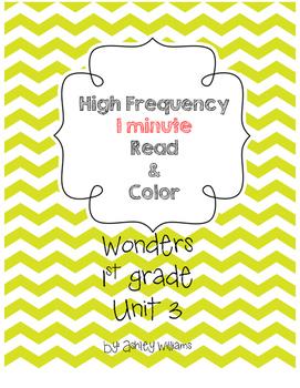 Wonders HFW fluency - Unit 3