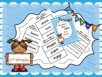 1st Grade Wonders Word Bundles for the Entire Year