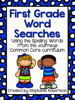 1st Grade Word Searches with Spelling Words from Journeys