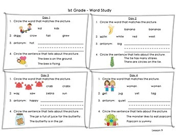 1st Grade Word Study Cards ~ Harcourt Journeys ~ Reading