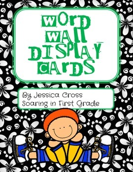 1st Grade Word Wall Display Cards