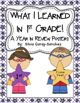 1st Grade Year in Review Write-In Posters