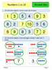 1st Grade Math Booklet - Numbers 1 to 10 - Mixed practice