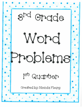 1st Quarter Word Problems