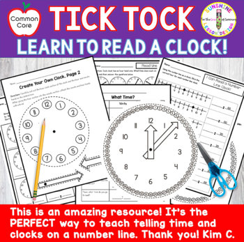 Telling Time-Hour Hand and Number Line Clock Activities.✰✰✰✰✰