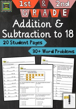 1st and 2nd Grade Math Unit:  Addition and Subtraction to
