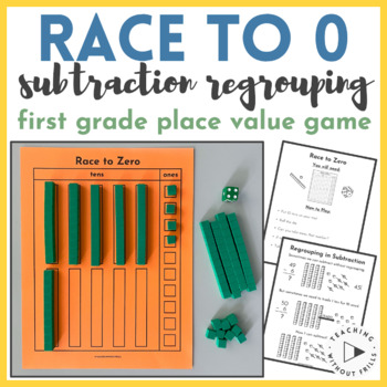 1st and 2nd Grade Place Value Subtraction Regrouping Game
