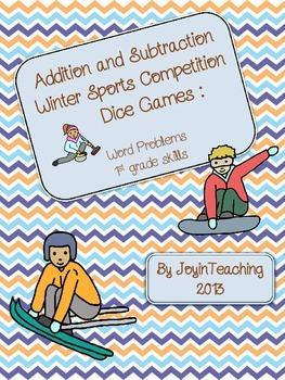 1st grade: Addition/Subtraction Word Problems: Winter Spor