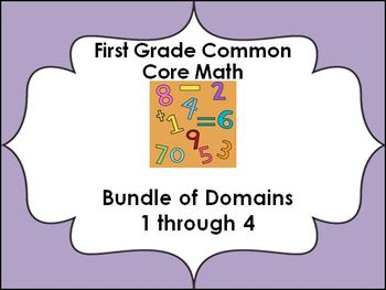 1st grade Common Core Lessons-All math domains