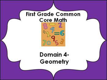 1st grade Common Core Lessons-Domain 4 (Geometry)