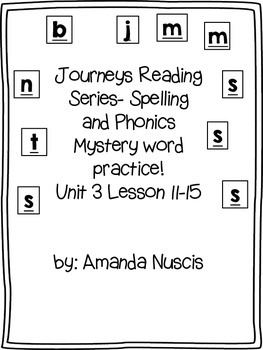 1st grade Journeys spelling word practice lessons 11-15 My
